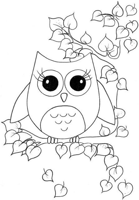 Dibujos de búhos para colorear para niños y adultos | BUHOSS.ES
